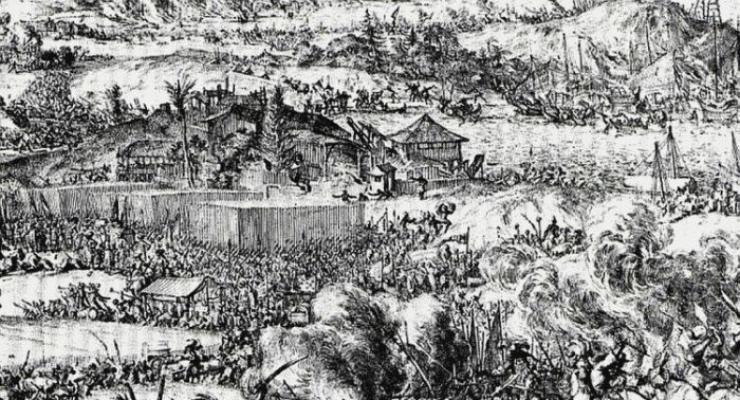 Lukisan Suasana Perang Gowa 1667 Maccini Sombala