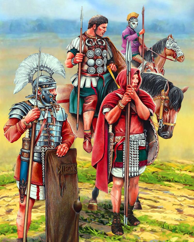 BEntuk rok Mini prajurit kerajaan Roma