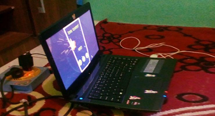 LAptop Acer rusak masuk ke air