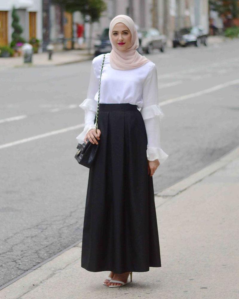 Rok LEbar A Kaki Jenjang Cewek Hijab Height Weist