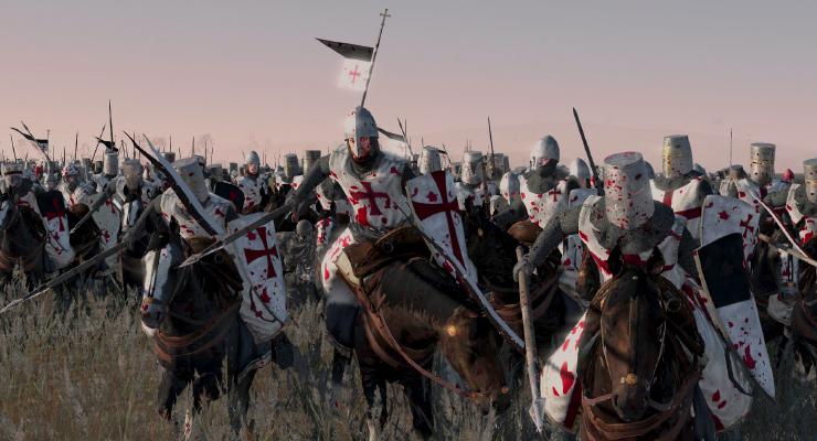 Ilustrasi PErang Salin dan Tentara Crusade di medan perang