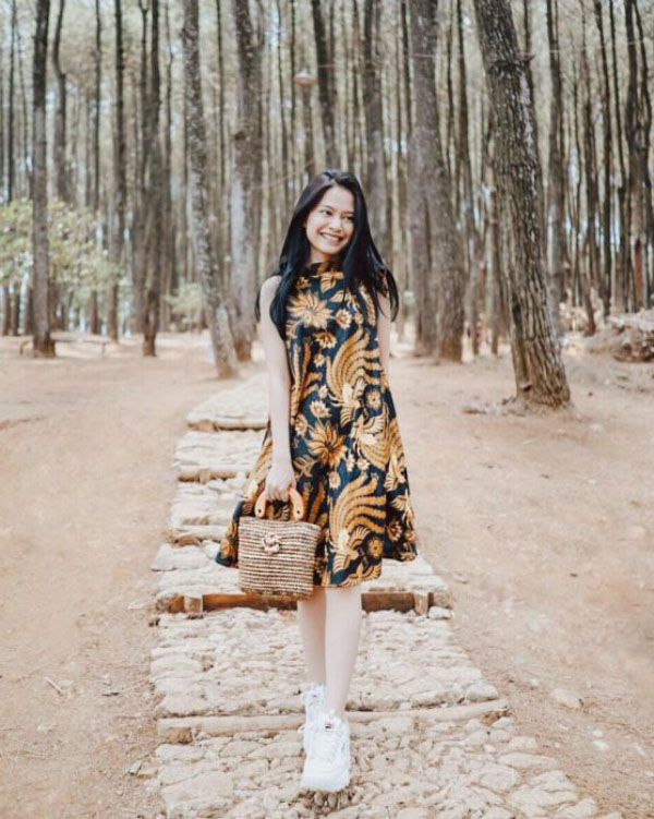 Mini Dress Motif Batik cewek Igo
