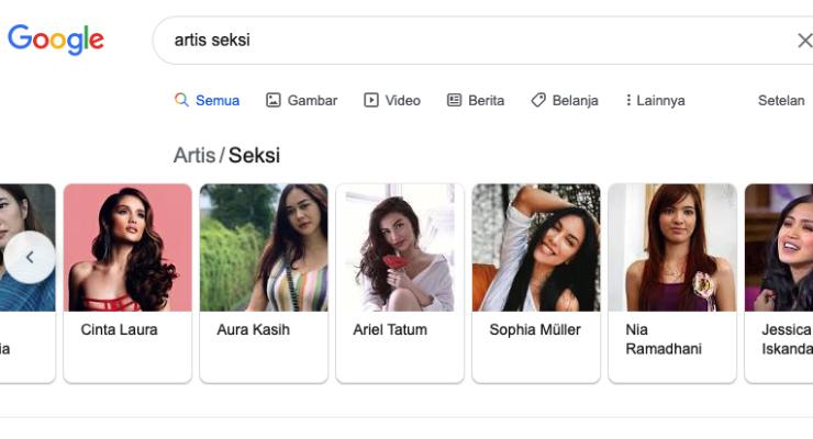 artis cantik dan seksi VErsi Google