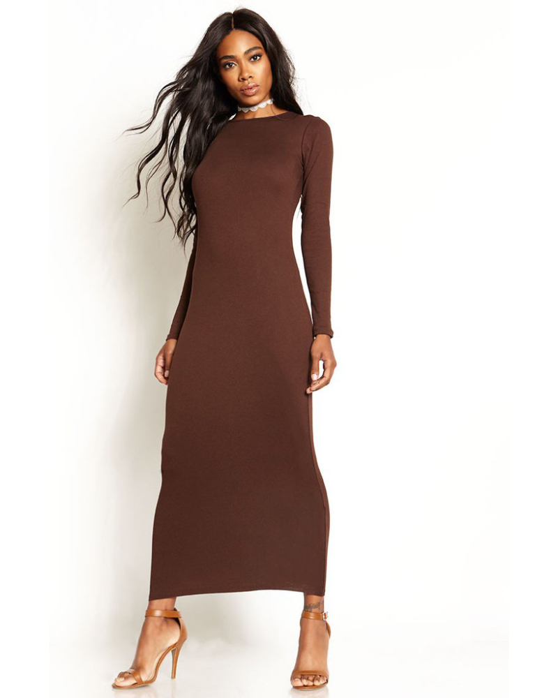 Long Sleve Bodycon Dress