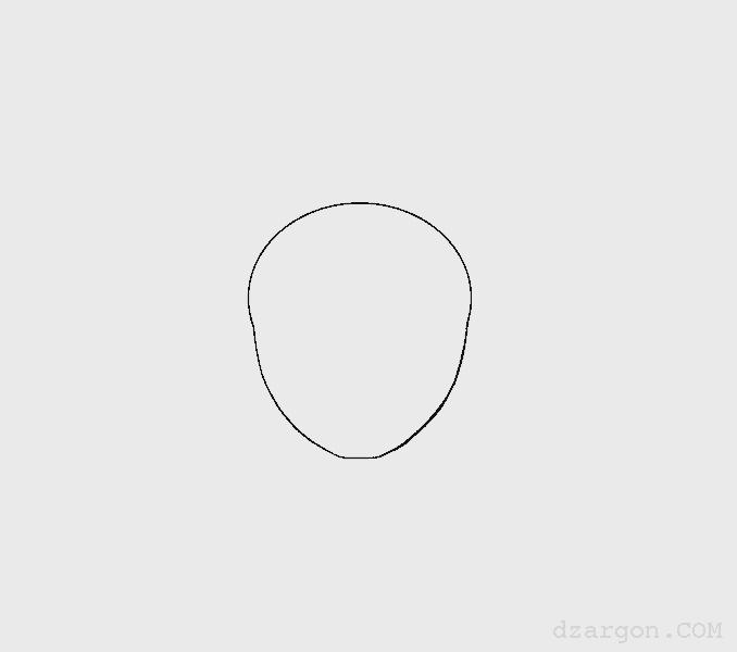 Cara Menggambar Wajah Sketsa Naruto menghapus garis bantu lingkaran