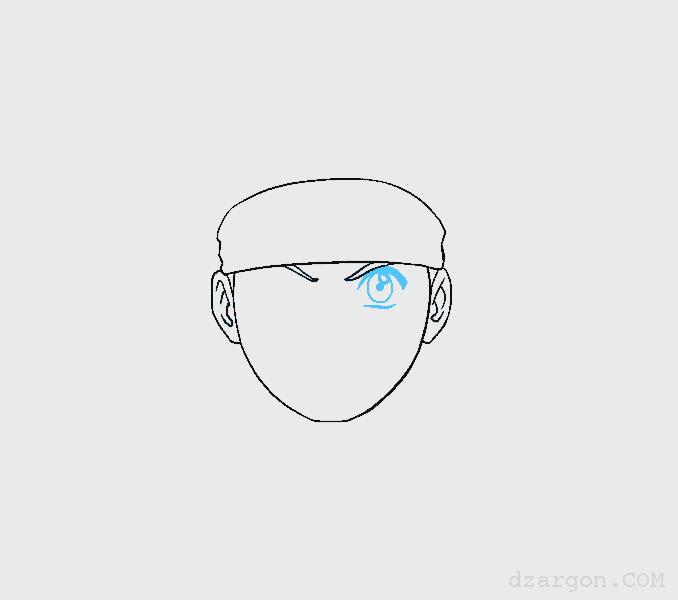 Cara Menggambar Sketsa Wajah Naruto Tambahkan Mata
