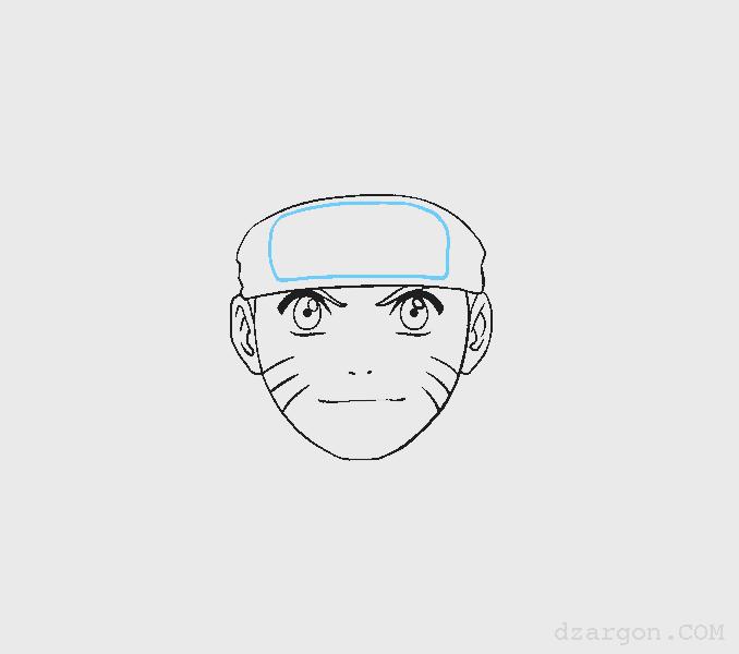 Cara Menggambar Sketsa Wajah Naruto membuat emblen