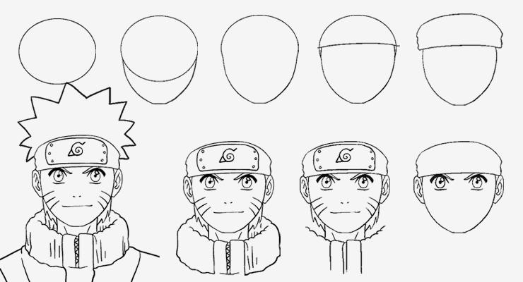 Cara Menggambar Naruto Step By Step