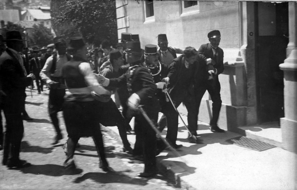 Peristiwa Perang Dunia I penangkapan Princip