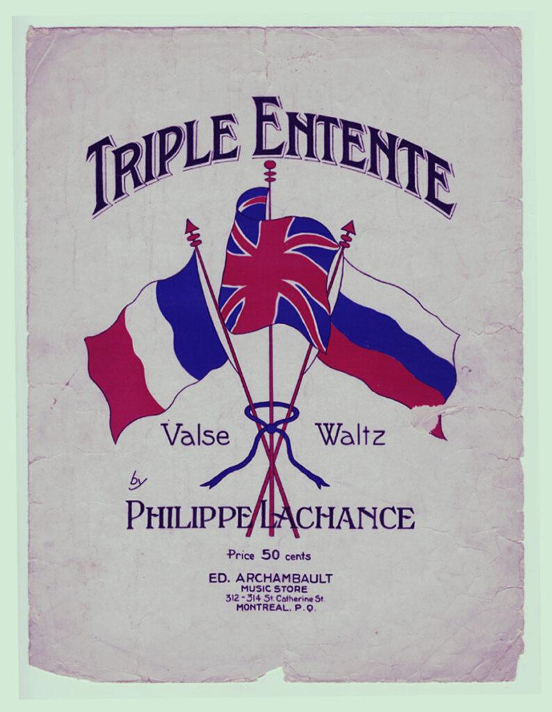 Spanduk Perang Triple Entente Inggris Rusia Perancis