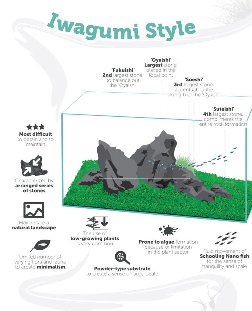 Cheat Sheet IWagumi Aquascape Style asli dari jepang